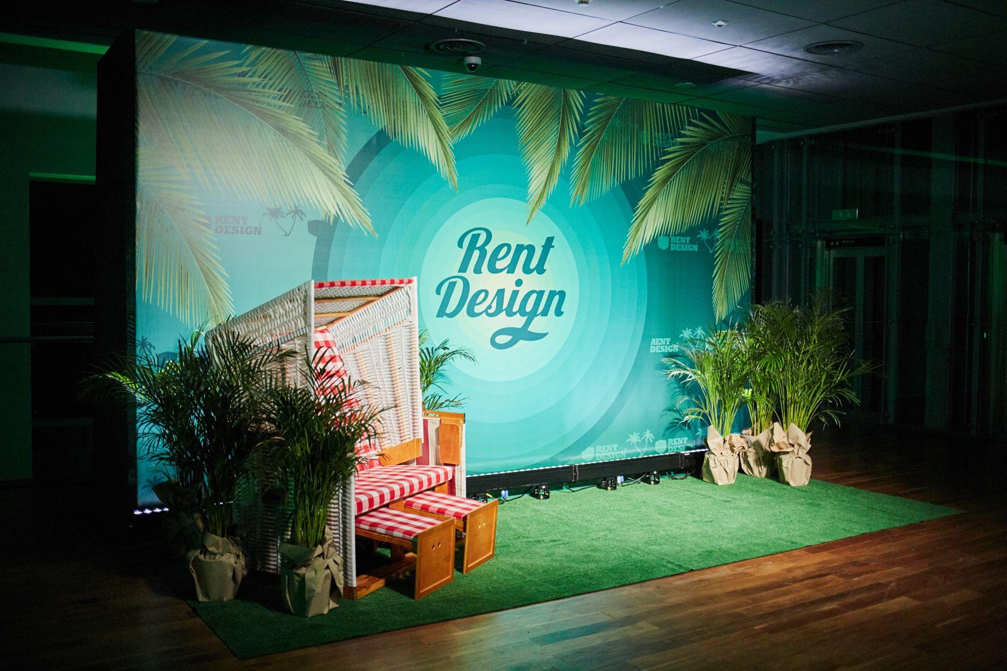 Tropikalne Xmas Party Rent Design